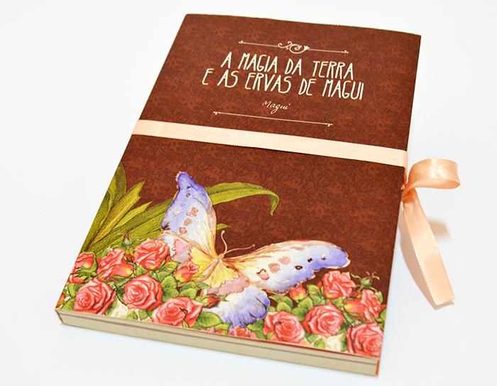 """Projeto gráfico livro """"A Magia da Terra"""" – Magui – Sítio Sertãozinho"""