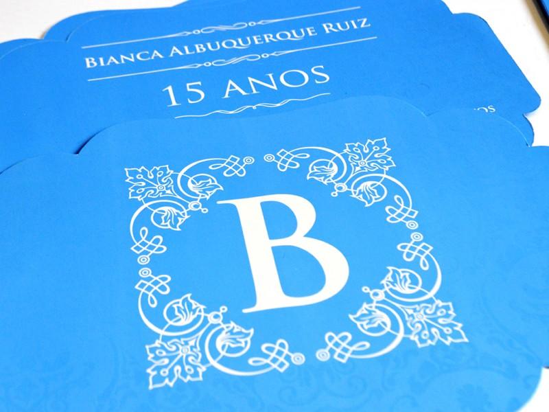 Projeto Gráfico – Convite e Papelaria 15 anos – Bianca