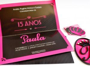 Projeto Gráfico – Convite e Papelaria 15 anos – Paula