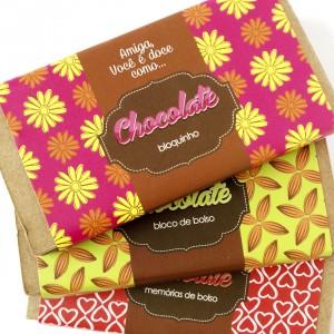 bloquinhos chocolate