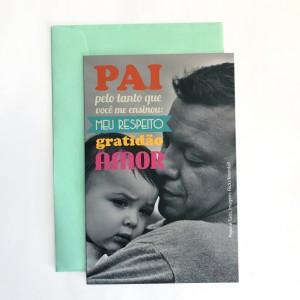 foto cartão pai respeito gratidao amor