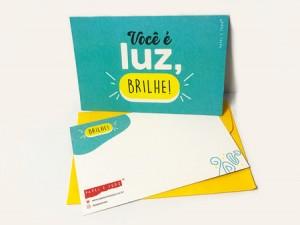 Cartão Tipográfico – Luz