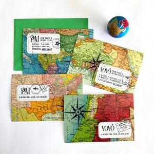 fotos cartões pai a vô mapas