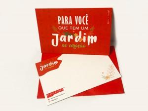 CARTÃO TIPOGRÁFICO – JARDIM