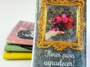 Caderninho Vintage Flores pra Agradecer