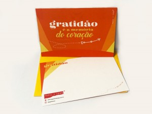 Cartão Tipográfico – Gratidão